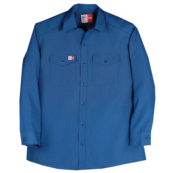 Big Bill FR 4.5 oz. Nomex Work Shirt TX290N4 Royal Blue