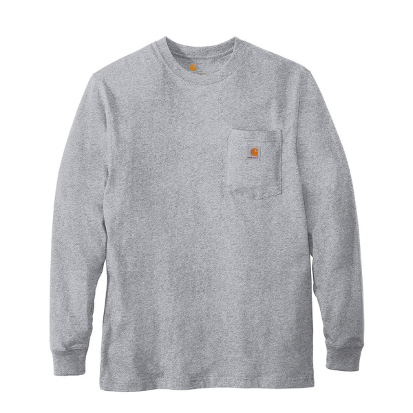 Carhartt Long Sleeve T Shirt K126 Heather Gray Front