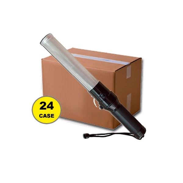 Case of 24 Red Green 16 Inch Traffic Batons w/ LED Flashlight 411TWRG-CASE