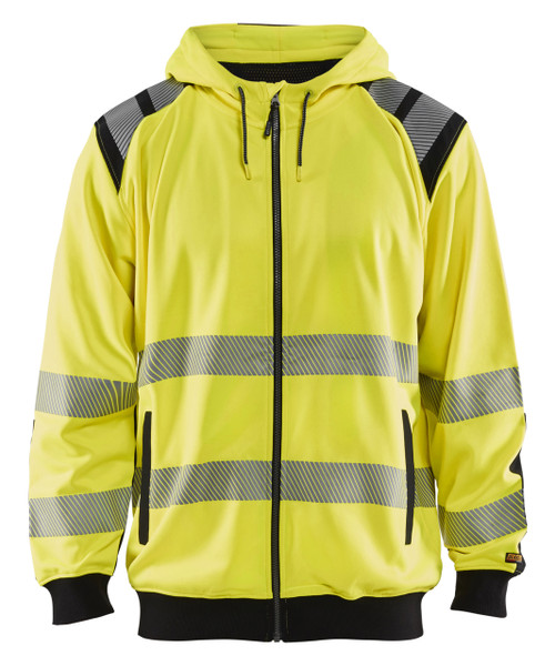 Blaklader Class 3 Hi Vis Yellow Hooded Sweatshirt 344619743399 Front
