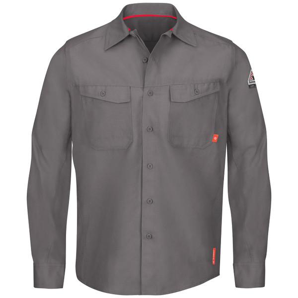 Bulwark FR iQ Endurance Work Shirt QS40 Gray Front