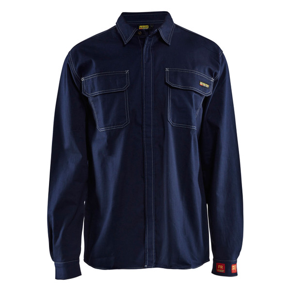 Blaklader FR Navy Blue Long Sleeve Shirt 327615518900 Front