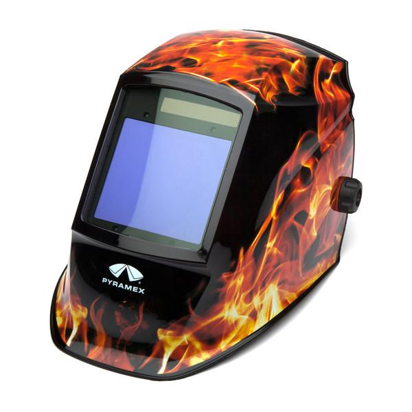 Pyramex Leadhead Auto-Darkening Flame Welding Helmet WHAM3030FL Side