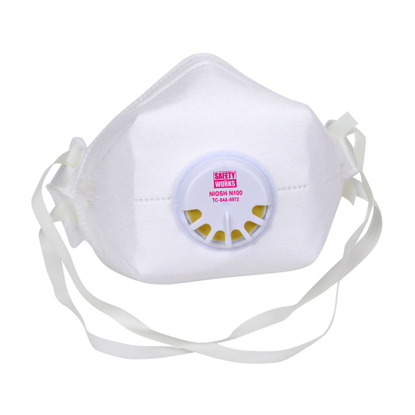 Case of 12 Safety Works N100 Particulate Disposable Respirator Masks SWX00398 Mask