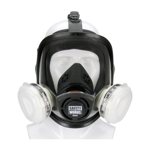 Case of 2 Safety Works Full Face Piece Paint and Pesticide Respirators SWX00327 Mask