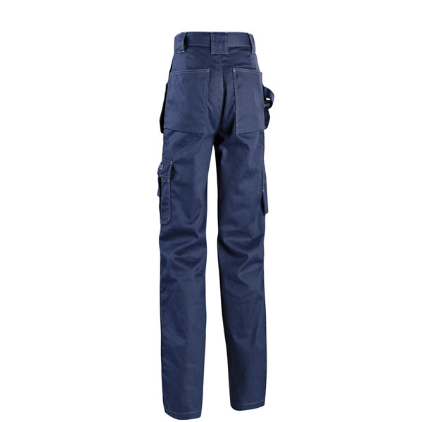 Blaklader 9.5oz. Flame Resistant Navy Blue Work Pants 163615508900 Back