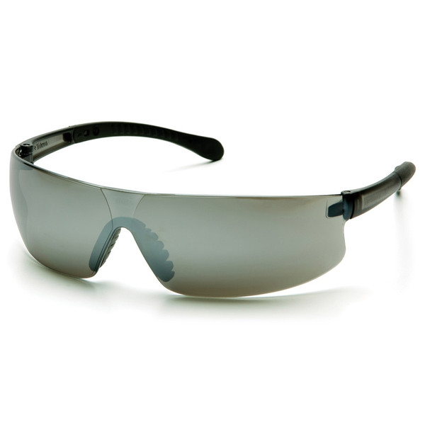 Box of 12 Pyramex Provoq Silver Mirror Lens Safety Glasses S7270S Side