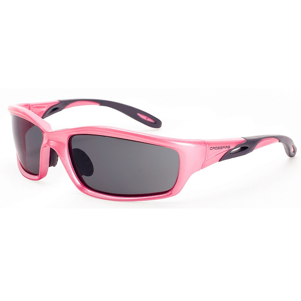 Crossfire Infinity Pearl Pink Frame Dark Smoke Lens Safety Glasses 22528 - Box of 12