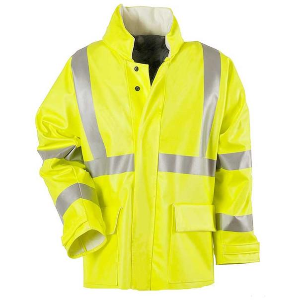 NSA FR Class 3 Hi Vis Yellow Arc H2O Rain Jacket R30RL06