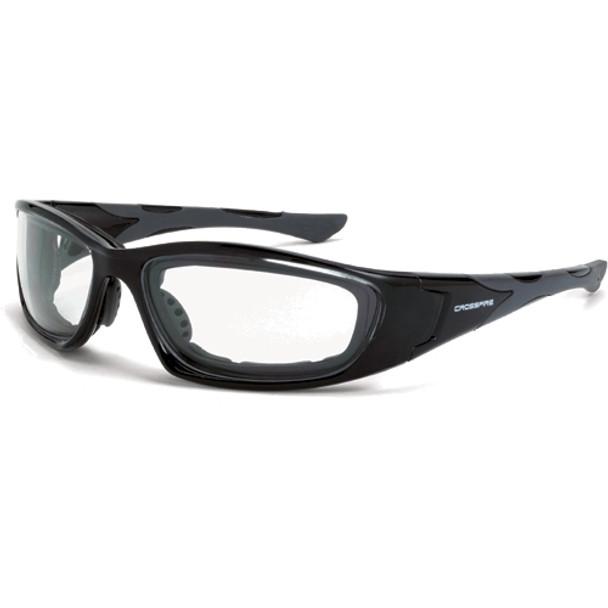 Crossfire MP7 Crystal Black Frame Clear Lens Safety Glasses 2444AF - Box of 12