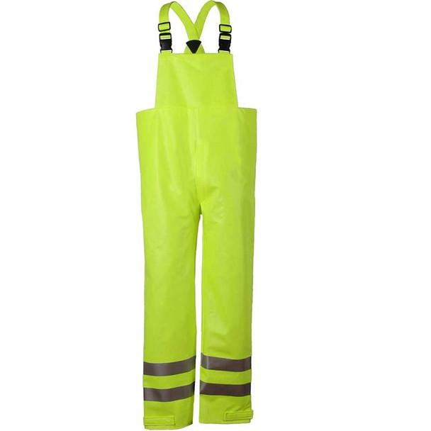 NSA FR Class E Hi Vis Yellow Arc H2O Made in USA Bib Rain Overall R40RL14