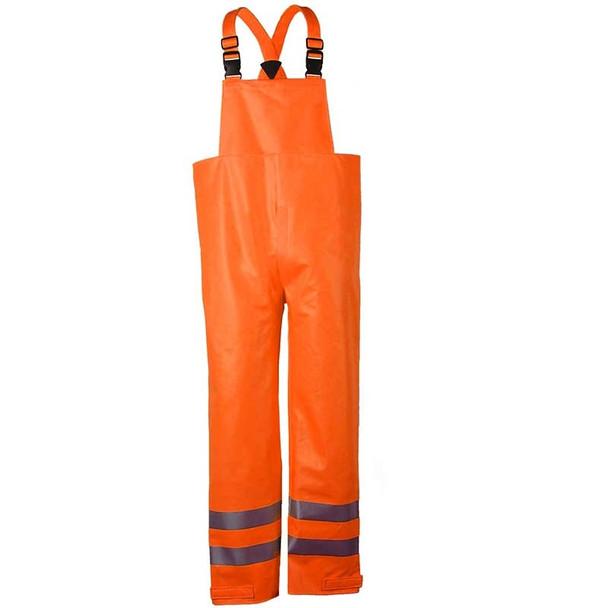 NSA FR Class E Hi Vis Orange Arc H2O Made in USA Rain Bib Overall R40RQ14