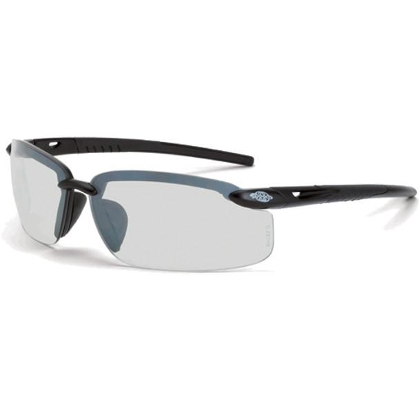 Crossfire ES5 Matte Black Half-Frame IO Lens Safety Glasses 29215 - Box of 12