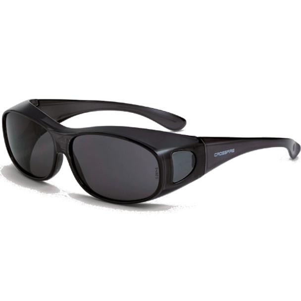 Crossfire OG3 Crystal Black Full Frame Smoke Lens OTG Safety Glasses 3116 - Box of 12
