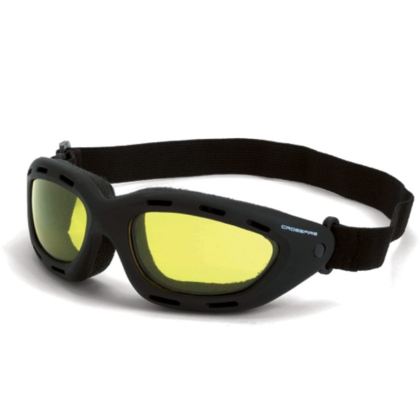 Crossfire Element Foam Lined Anti-Fog Yellow Lens Safety Goggles 91353AF - Box of 12