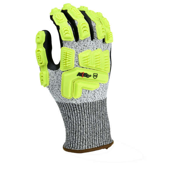 Radians Box of 12 Pair ANSI Cut Level A4 Axis D2 Dyneema Gloves RWGD110 Top