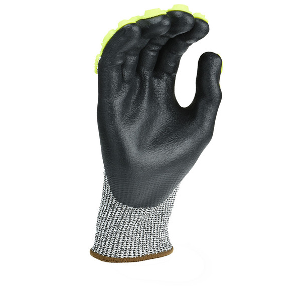 Radians Box of 12 Pair ANSI Cut Level A4 Axis D2 Dyneema Gloves RWGD110 Palm