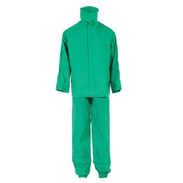 Neese ASTM F903 I96S Green Economy Industrial Chem Splash 3 Piece Rain Suit 10096-55 Suit Front