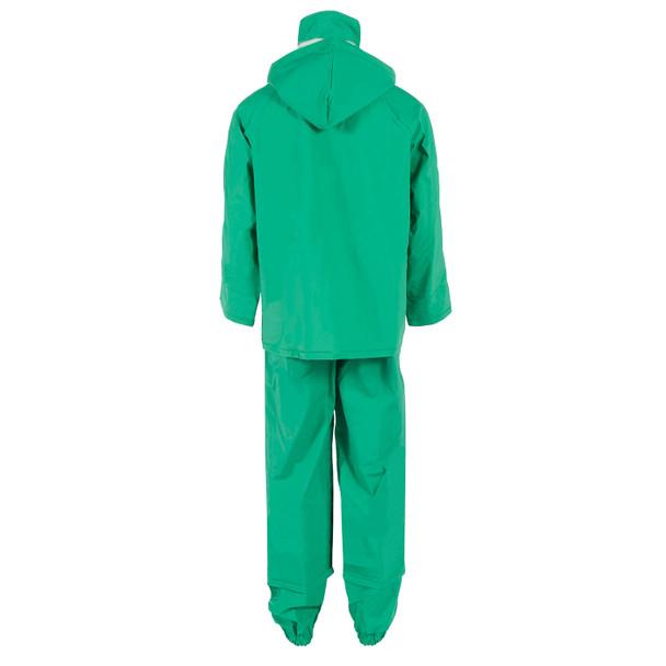 Neese ASTM F903 I96S Green Economy Industrial Chem Splash 3 Piece Rain Suit 10096-55 Suit Back