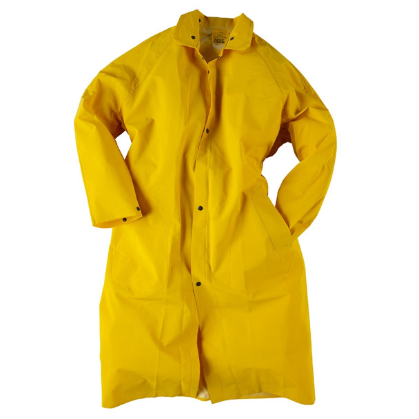Neese 1650C Non-ANSI Hi Vis Full Length Economy Raincoat with Detachable Hood 10165-31 Front