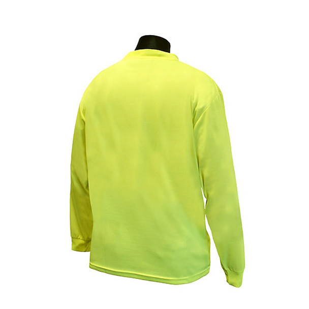 Radians Non-ANSI Hi Vis Green Moisture Wicking Long Sleeve T-Shirt ST21-N Back