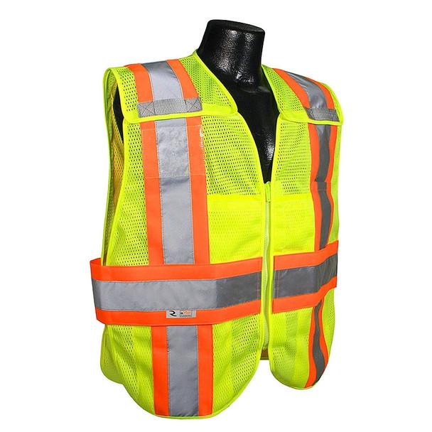 Radians Class 2 Hi Vis Mesh Breakaway Expandable Safety Vest SV24-2ZGM Front