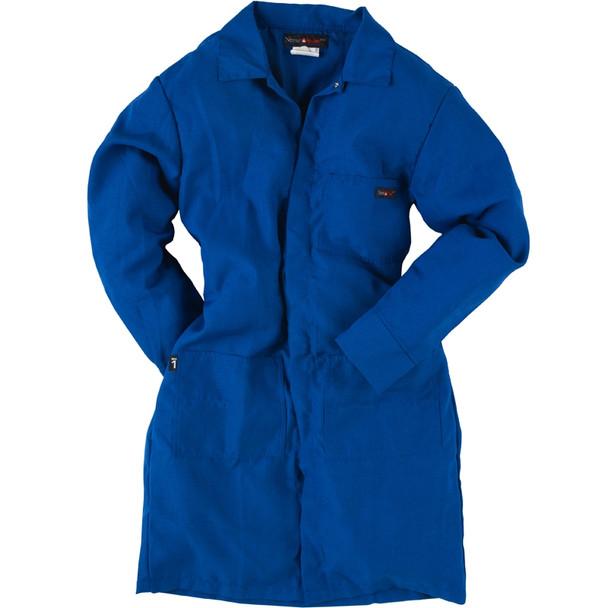 Neese FR 9 oz. Cotton Lab Coat VI9LC Blue Front