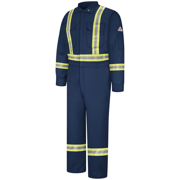Bulwark FR X-Back Enhanced Visibility Excel 2 Tone Coverall CLBC Navy Front