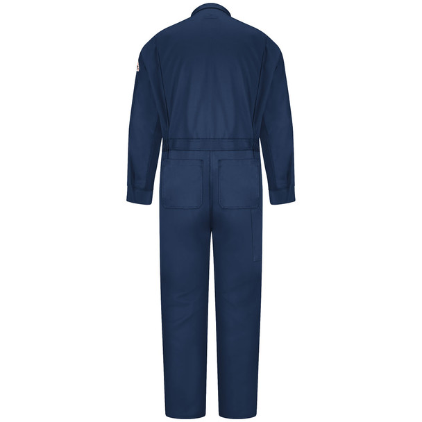 Bulwark FR Comfortouch Coveralls CLD4 Navy Blue Back