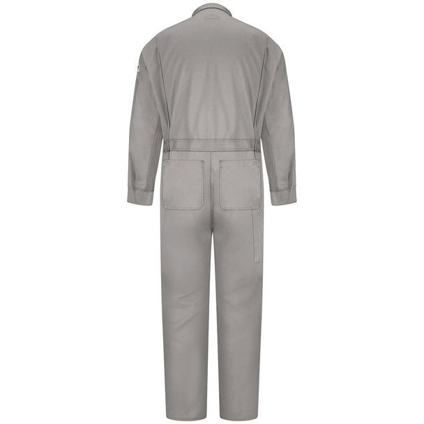 Bulwark FR Comfortouch Coveralls CLD4 Grey Back