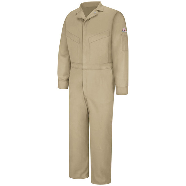 Bulwark FR Comfortouch Coveralls CLD4 Khaki Front