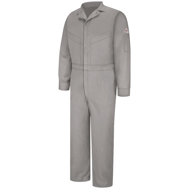 Bulwark FR Comfortouch Coveralls CLD4 Grey Front