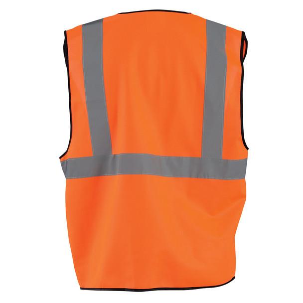 Occunomix Class 2 Hi Vis Economy Safety Vest ECO-G Orange Back