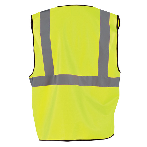 Occunomix Class 2 Hi Vis Economy Safety Vest ECO-G Yellow Back