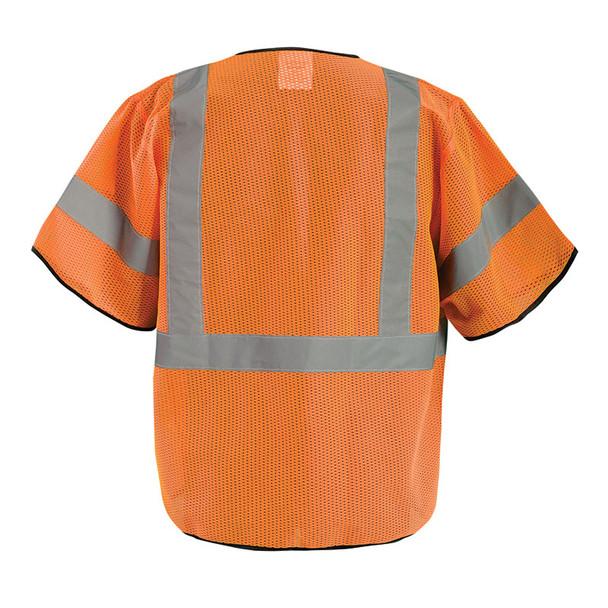 Occunomix Class 3 Hi Vis Economy Mesh Safety Vest ECO-GCZ3 Orange Back