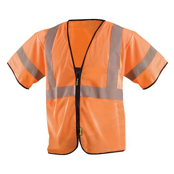 Occunomix Class 3 Hi Vis Economy Mesh Safety Vest ECO-GCZ3 Orange Front