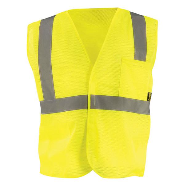 Occunomix Class 2 Hi Vis Mesh Value Economy Safety Vest ECO-IM Yellow Front