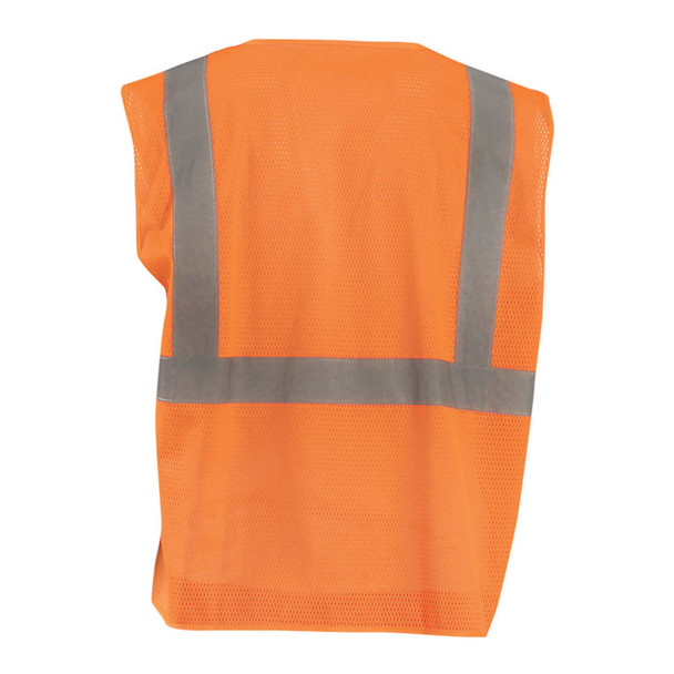 Occunomix Class 2 Hi Vis Mesh Economy Safety Vest ECO-IMZ Orange Back