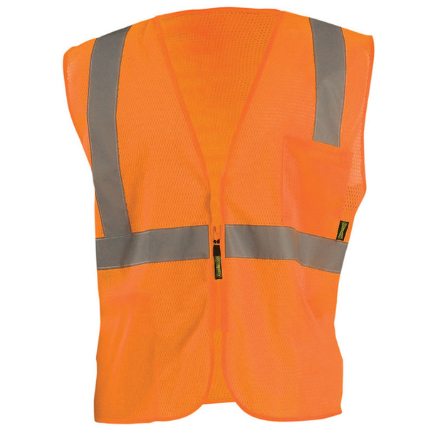 Occunomix Class 2 Hi Vis Mesh Economy Safety Vest ECO-IMZ Orange Front