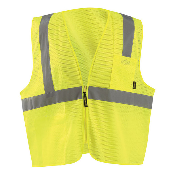 Occunomix Class 2 Hi Vis Mesh Economy Safety Vest ECO-IMZ Yellow Front