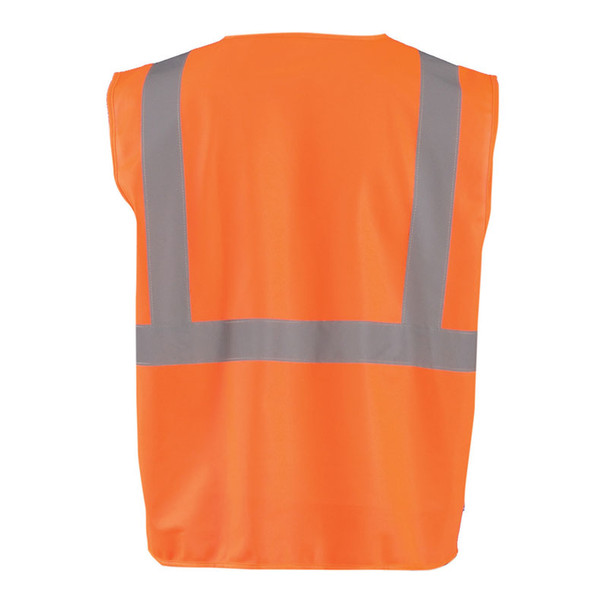 Occunomix Class 2 Hi Vis Economy Safety Vest ECO-IS Orange Back
