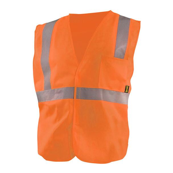 Occunomix Class 2 Hi Vis Economy Safety Vest ECO-IS Orange Front