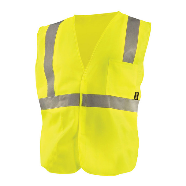 Occunomix Class 2 Hi Vis Economy Safety Vest ECO-IS Yellow Front