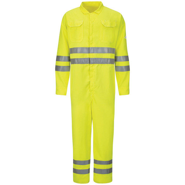 Bulwark FR Class 3 Hi Vis Deluxe Coverall CoolTouch CMD8HV Front