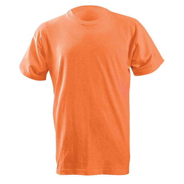 Occunomix Non-ANSI Enhanced Visibility Classic Cotton Made in USA T-Shirt LUX-300 Orange Front