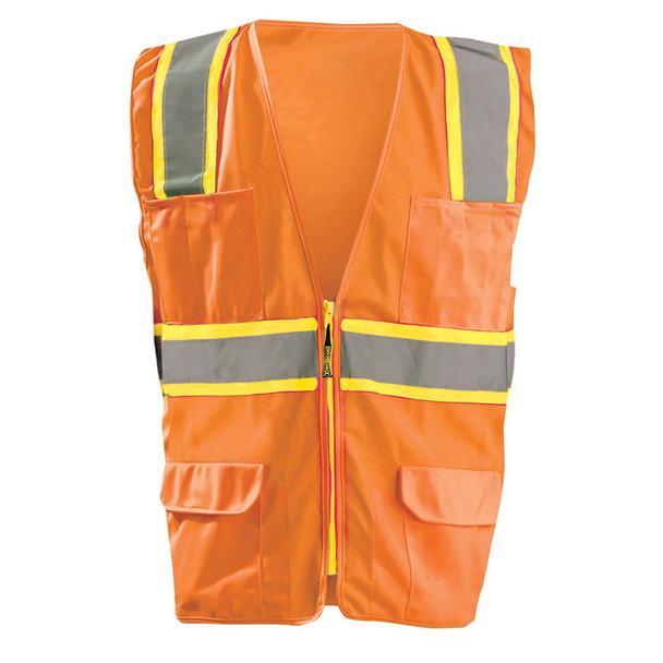 Occunomix Class 2 Hi Vis 7 Pocket Surveyor Vest LUX-ATRANS Orange