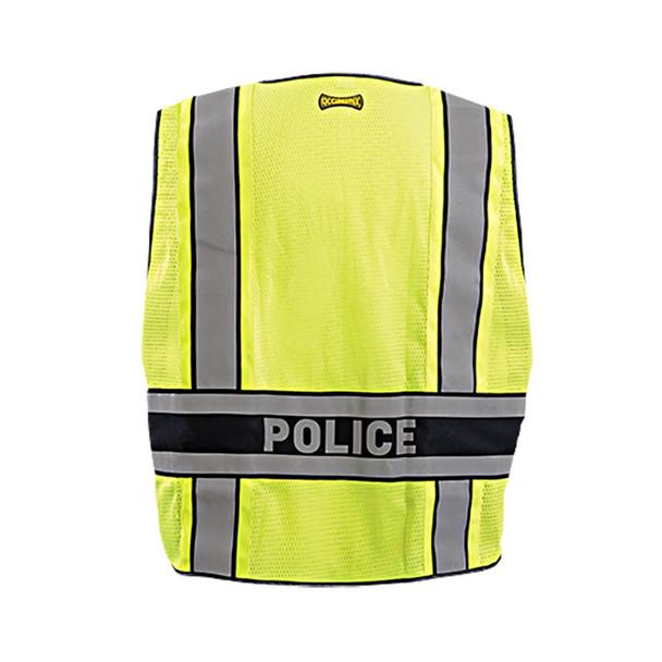 Occunomix Class 2 Hi Vis Yellow Police Public Safety DOR Vest LUX-DPSP-DOR Back