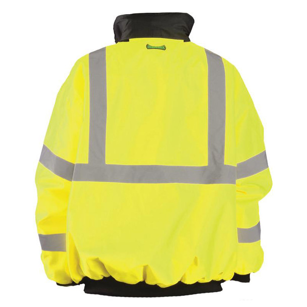 Occunomix Class 3 High Visibility Bomber Jacket LUX-ETJBJ Yellow Back
