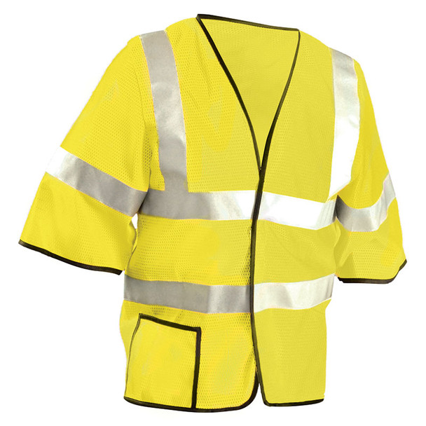 Occunomix Class 3 Hi Vis Mesh Safety Vest LUX-HSCOOL3 Yellow