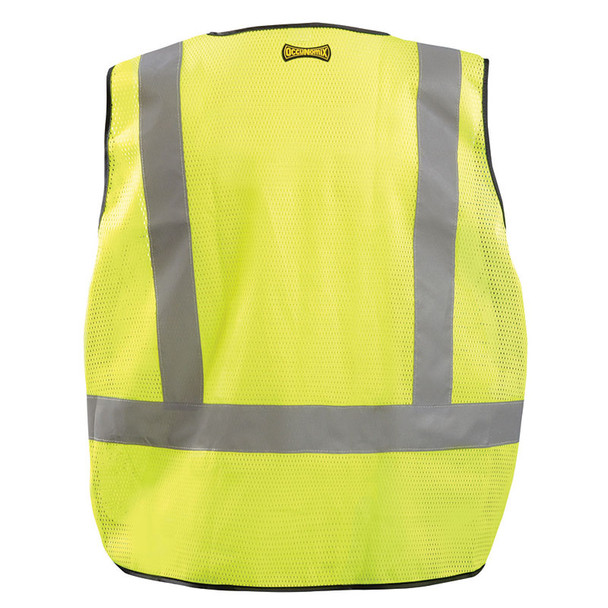 Occunomix Class 2 Hi Vis Yellow Public Safety Mesh DOR Vest LUX-PS-DOR Back